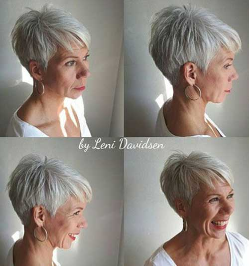 Short White Hairstyles for Older Women