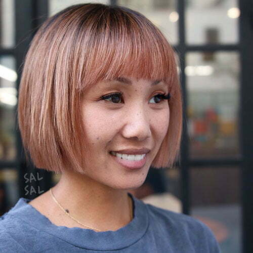 Blunt Cut Bob With Bangs