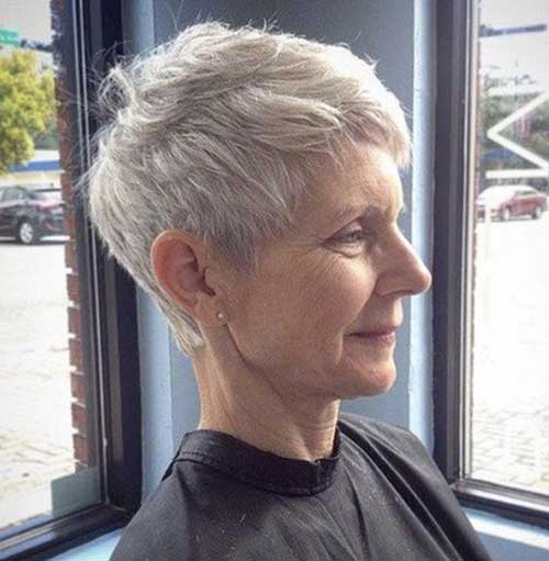 Short Hairstyles for Older Women with Thin Hair-9