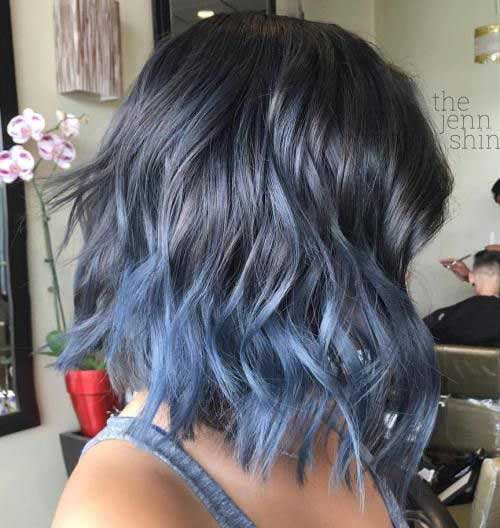 Blue Hair Color Ideas for Short Hair 2019