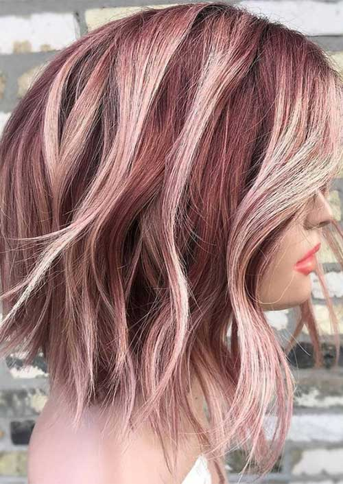Burgundy Hair Color Ideas for Short Hair 2019
