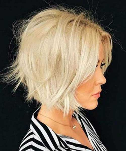 Modern Short Blonde Choppy Hairstyles