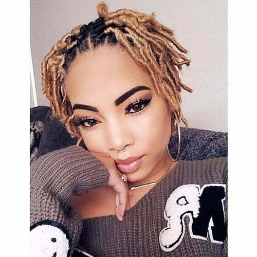 Dreads Hairstyles for Short Hair Black Women