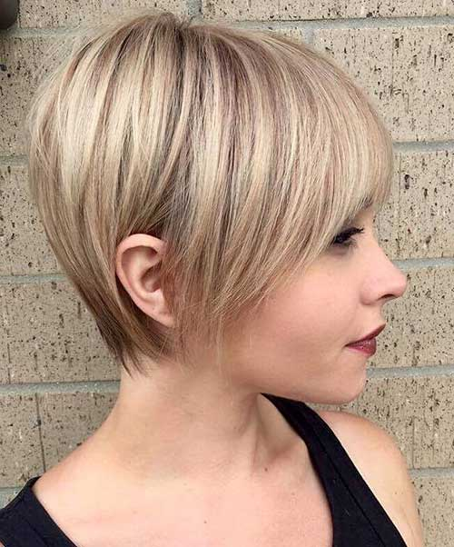 Layered Cute Short Hair for Round Face