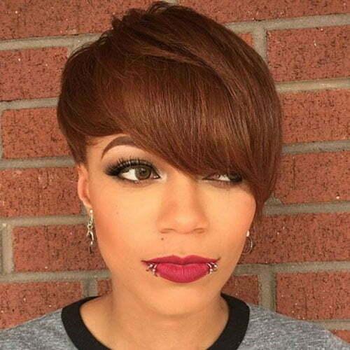 Bangs Hairstyles for Short Hair Black Women