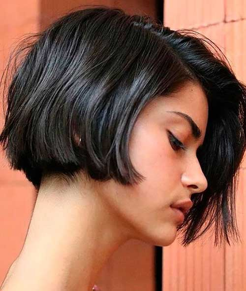 Dark Brown Short Bob Haircuts for Women