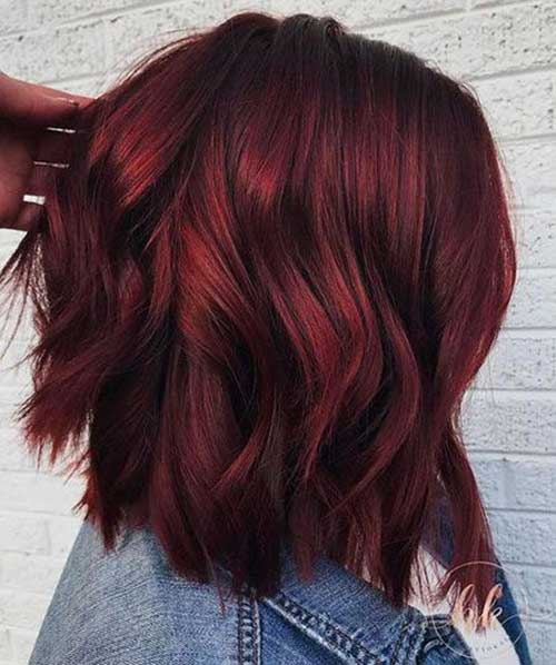 Dark Red Hair Color Ideas for Short Hair 2019