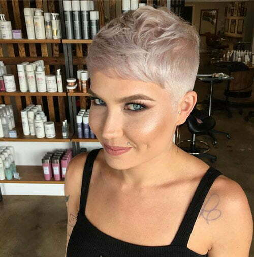 Fade Pixie Blonde Hair