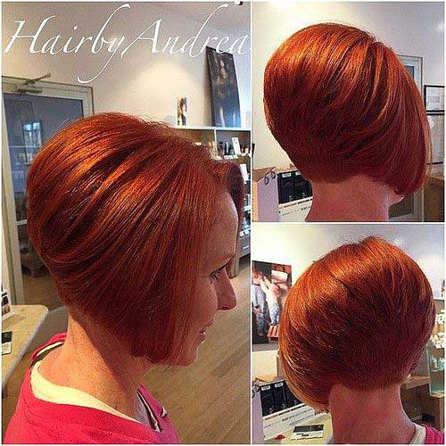 Inverted Short Bob Haircuts for Women