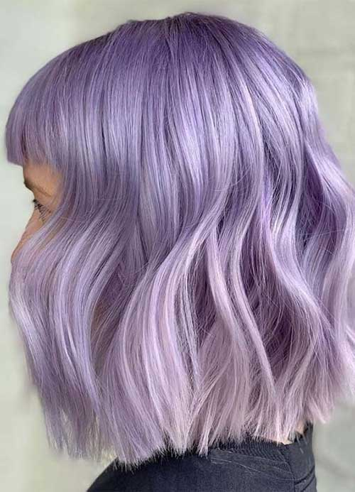 Lilac Hair Color Ideas for Short Hair 2019