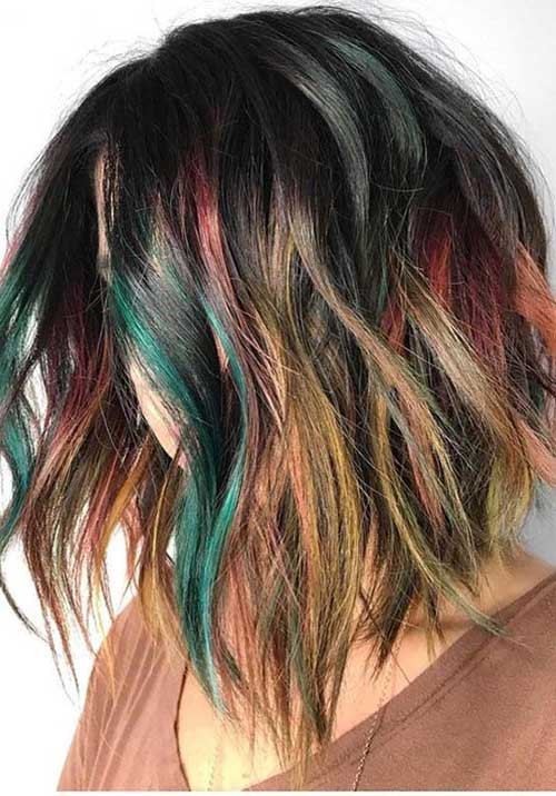 Multi Hair Color Ideas for Short Hair 2019