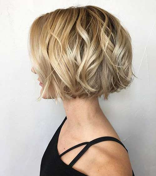 One Length Short Wavy Hair