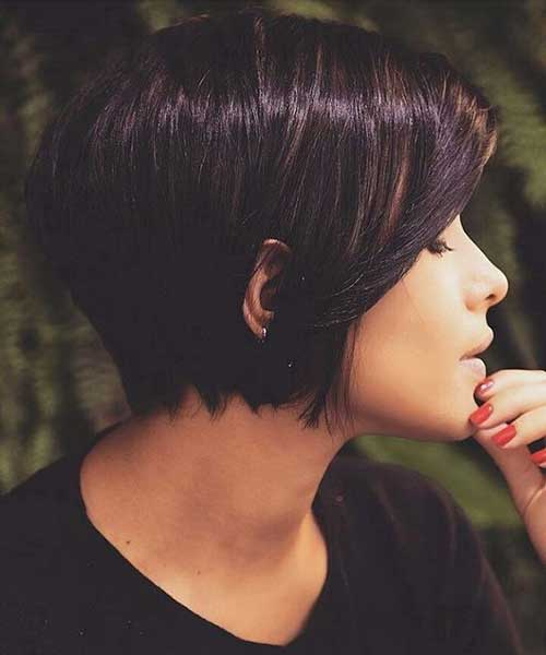 One Length Short Bob Haircuts for Women