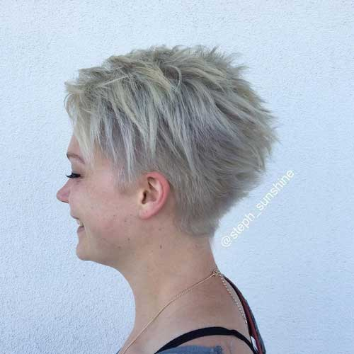 Layered Pixie Cut for Round Face