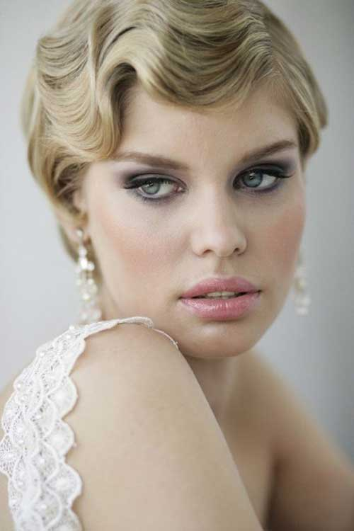 Short Gatsby Hairstyles for Wedding