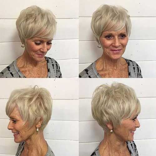 2019 Short Hairstyles For Older Women With Thin Hair