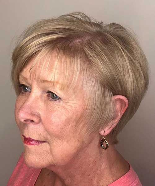 2019 Short Hairstyles For Older Women With Thin Hair Short Haircut Com
