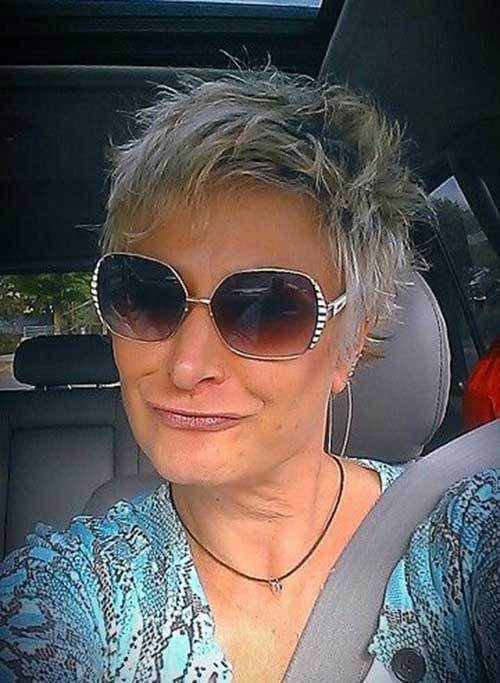 Short Spiky Hairstyles for Older Women