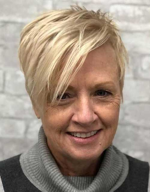 Short Thin Hairstyles for Older Women