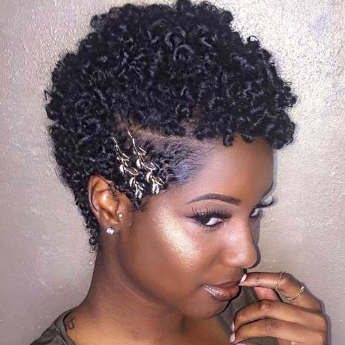Tapered Cut Short Natural Hair Styles for Black Women