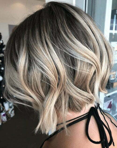 Wavy Bob Hairstyles Color