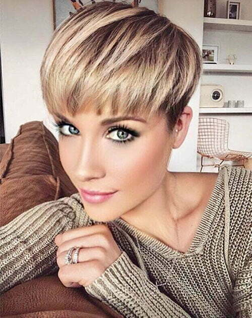 Wedge Pixie Blonde Hair