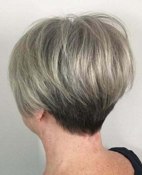Kurze Frisuren Style für ältere Frauen-10