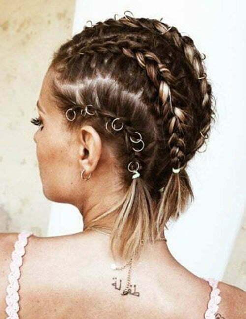 Cute Hairstyles for Short Hair Braids-11