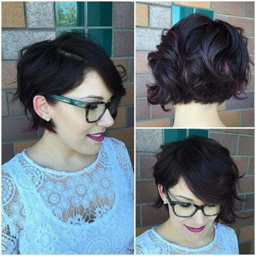 Short Hairstyles for Wavy Hair with Bangs-11