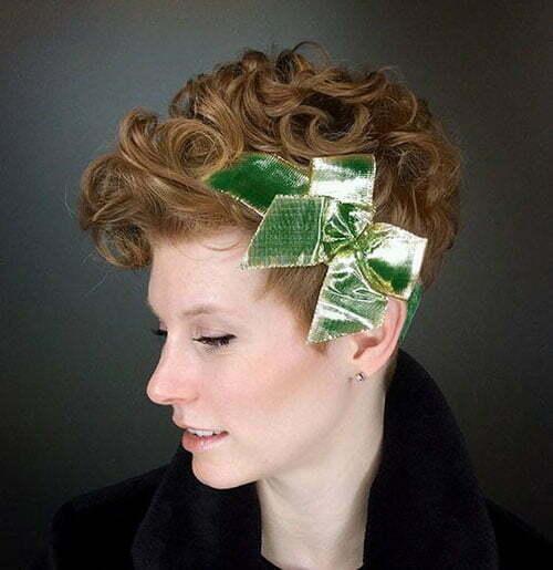 Kurze lockige Frisuren Headpiece-12