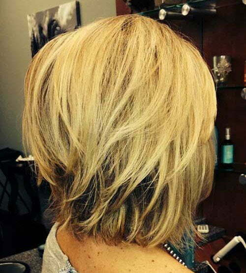 Short Straight Blonde Layered Haircuts-13