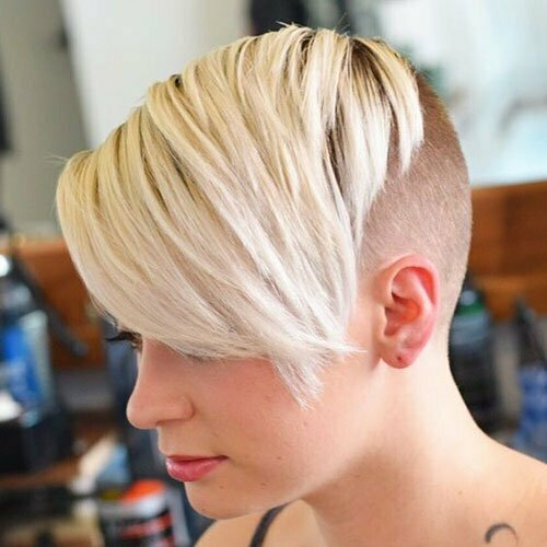 Short Straight Blonde Shaved Haircuts-14