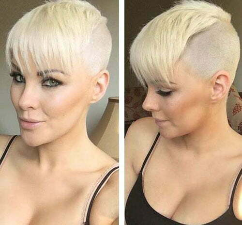 Short Straight Shaved Blonde Haircuts-20