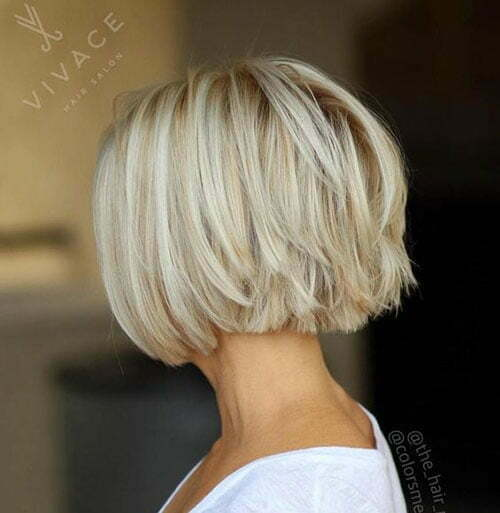 Short Straight Ice Blonde Haircuts-21