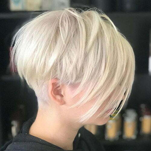 Short Straight White Blonde Haircuts-6