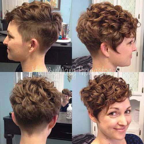 Kurze lockige Side Cut Frisuren-6