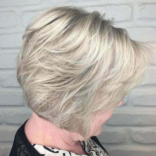 Short Bob Haircuts for Older Women