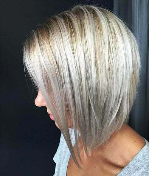 Short Straight Blonde Haircuts