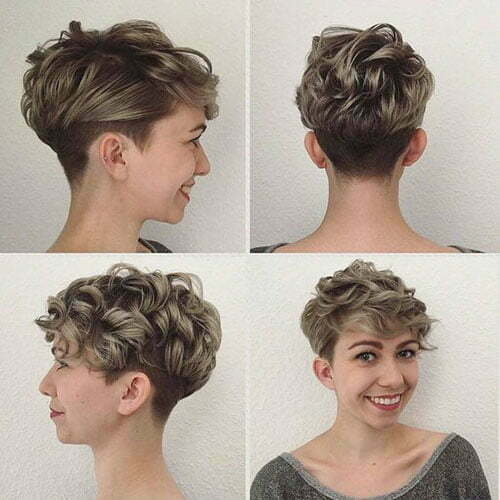 Sehr kurze lockige Frisuren
