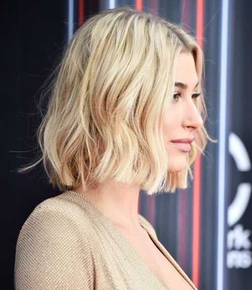 Hailey Baldwin Side Short Hair-10