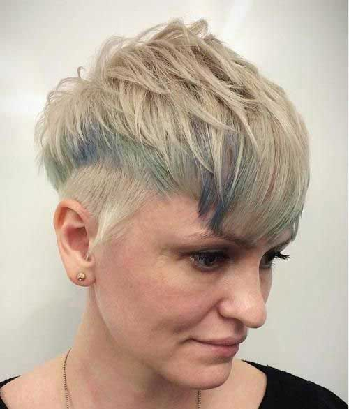 Short Undercut Haircuts for Women Over 40-12