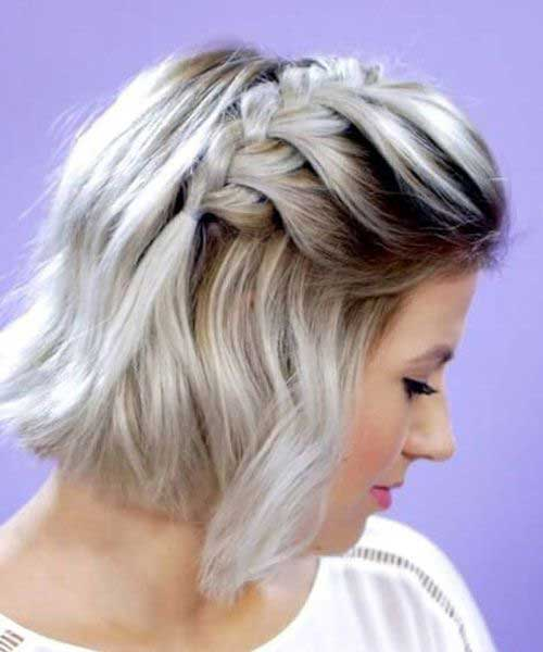 Easy Braided Hairstyles for Short Hair-13