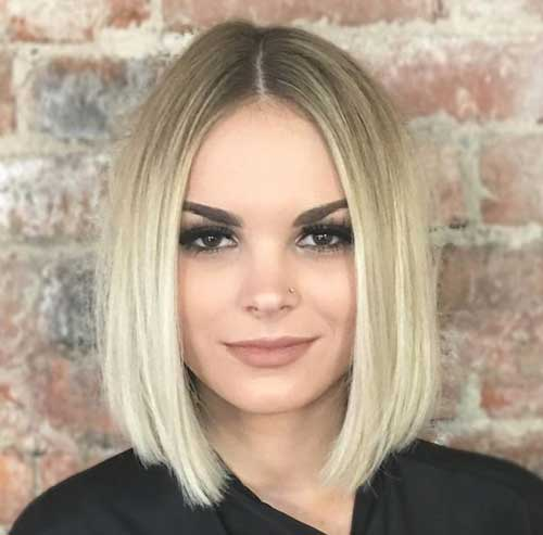 Blunt Short Hairstyles for Thin Hair-16