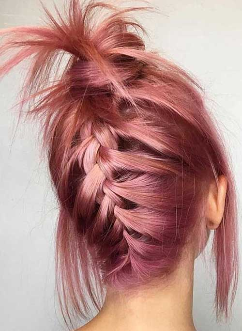 Cute Easy Fishtail Braid Hairstyles for Short Hair-16