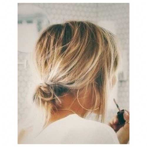 Cute Easy Buns For Short Hair