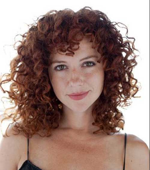 Cute Short Curly Ginger Hairstyles-17