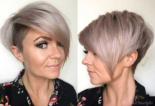 Short Thick Haircuts for Women Over 40-17