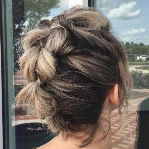 Süße Zöpfe für kurzes Haar