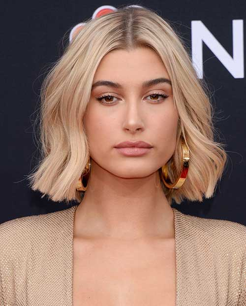 Hailey Baldwin Short Bob Hair-18