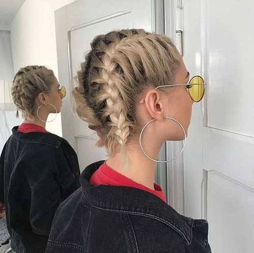 Cute Easy French Braids Hairstyles for Short Hair-19